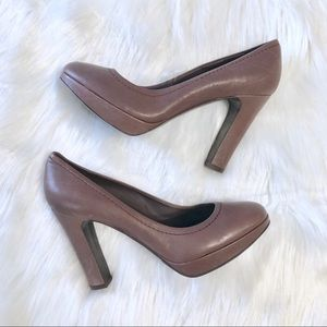 J. Crew Brown Leather Coddington Pumps Sz 8